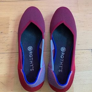 Rothy's Berry Colorblock Flat Size 10